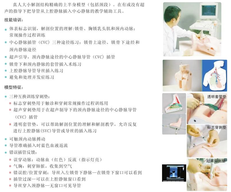 超声中心静脉插管模型M93U