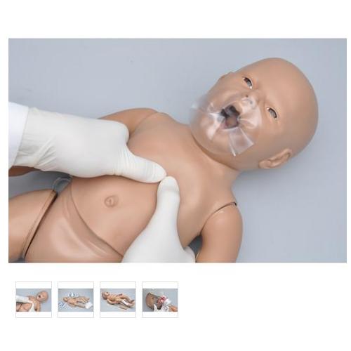 张掖德国3B Scientific®新生儿CPR和综合护理模型,带控制器,增加胫骨穿刺和静脉通路