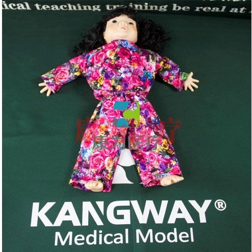 """""""康为医疗""""高级唐氏综合症婴儿护理模型,唐氏宝宝护理模型,唐氏宝宝模型"""